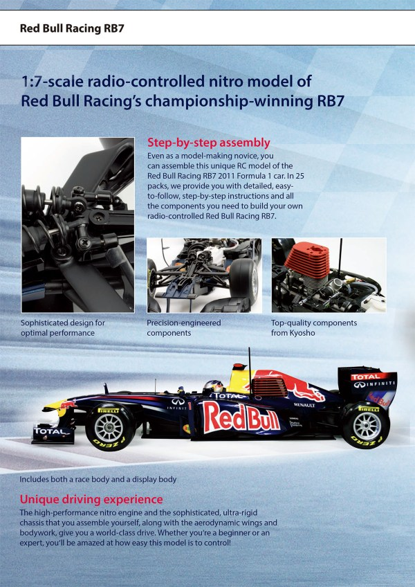 Red Bull Racing Formula One Team, 1:7 Scale Nitro Powered RC Race Car, 1:7-Scale Radio-Controlled Nitro Model of Red Bull Racing's Championship-Winning RB7