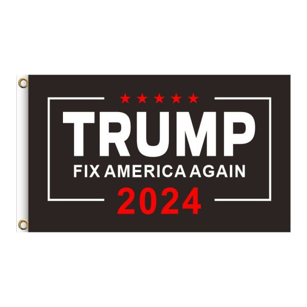 """Brown """"TRUMP FIX AMERICA AGAIN 2024"""", 2FT, 3FT, 5FT, Donald Trump for President 2024, TRUMP 2024 Banner, TRUMP 2024 Flag, Trump 2024 United States Presidential Plection Merchandise"""