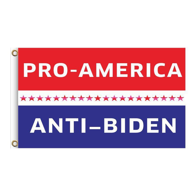 "Red & Blue & Stars ""PRO-AMERICA ANTI-BIDEN"", 2FT, 3FT, 5FT, Donald Trump for President 2024, TRUMP 2024 Banner, TRUMP 2024 Flag, Trump 2024 United States Presidential Plection Merchandise"