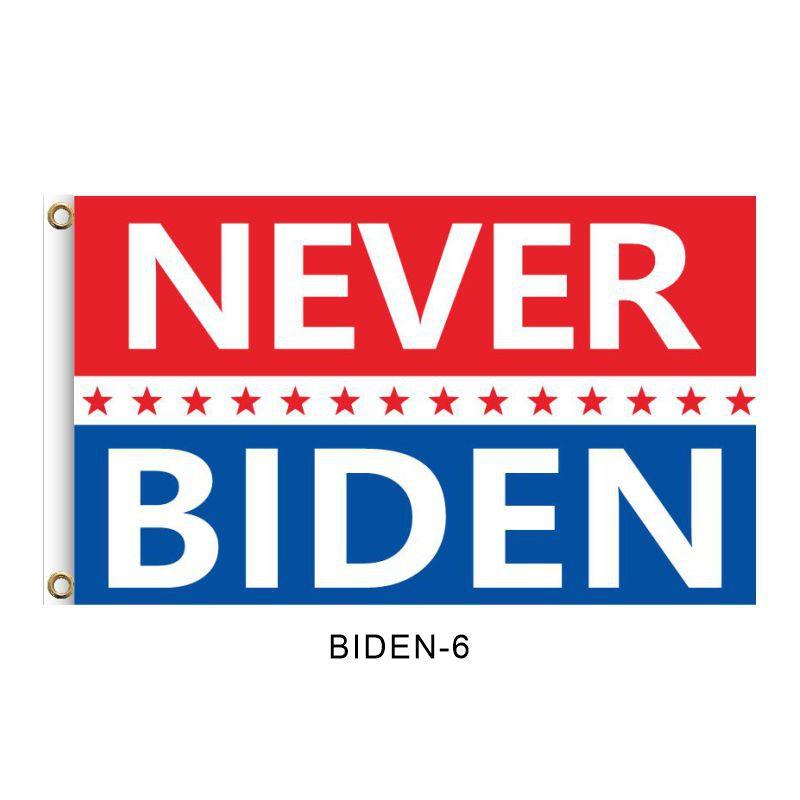 """NEVER BIDEN"", 2FT, 3FT, 5FT, Donald Trump for President 2024, TRUMP 2024 Banner, TRUMP 2024 Flag, Trump 2024 United States Presidential Plection Merchandise"