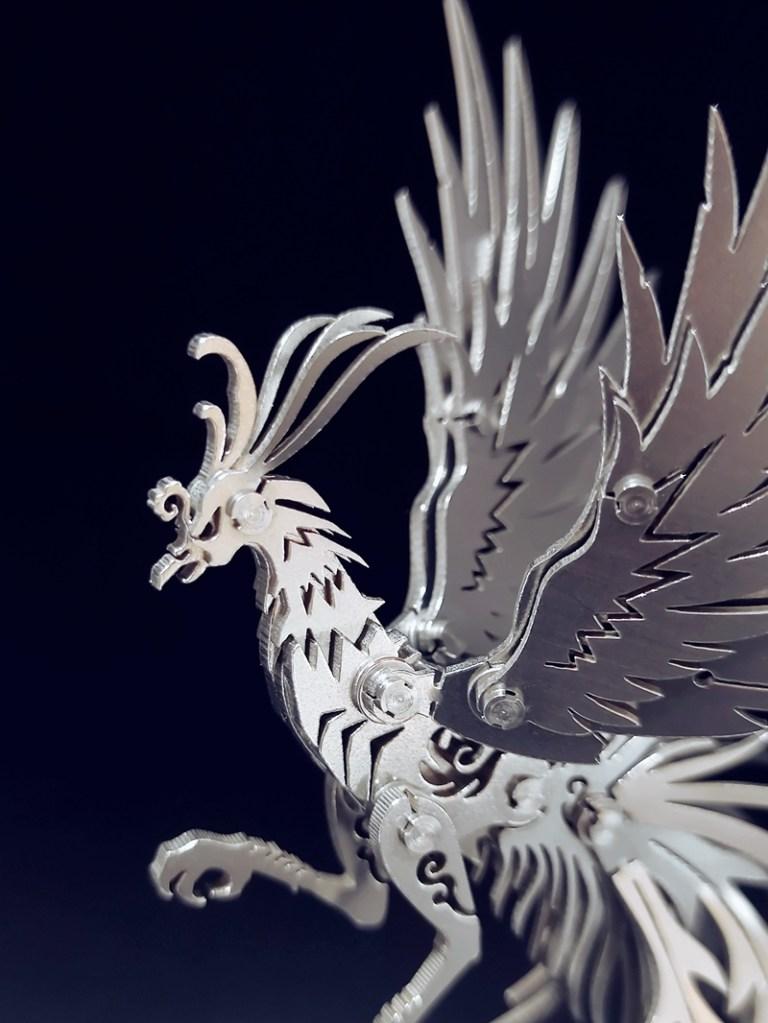 Phoenix Crafts, Phoenix artwork, 3D Stainless steel full metal texture Phoenix Art, Decoration Phoenix, Good Luck Phoenix Room Decoration, Desktop mascot phoenix