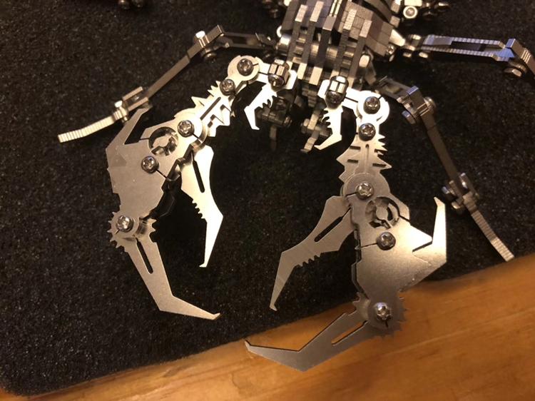 scorpion Crafts, scorpion artwork, 3D Stainless steel full metal scorpion Art, Mechanical scorpion Exhibits, King Kong Scorpion Tabletop decoration, Vajra scorpion Model, Scorpion Robot Warrior DIY Toy