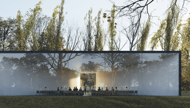 funeral ceremony centre, courtesy Hofman Dujardin Architects