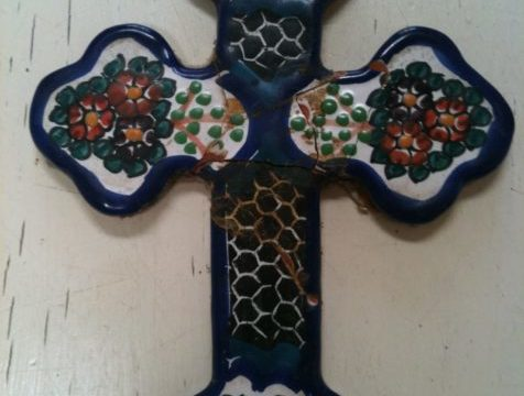 A Mexican Cross to remember Chris by, made better for its imperfections, as he is buried today.