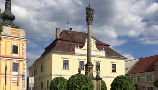 A Plague Column in The Czech Republic, photo by Margaret Rice