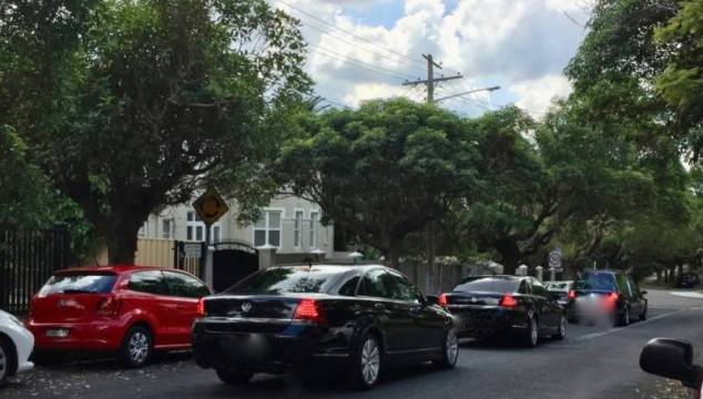 A suburban Sydney funeral with no procession of mourners