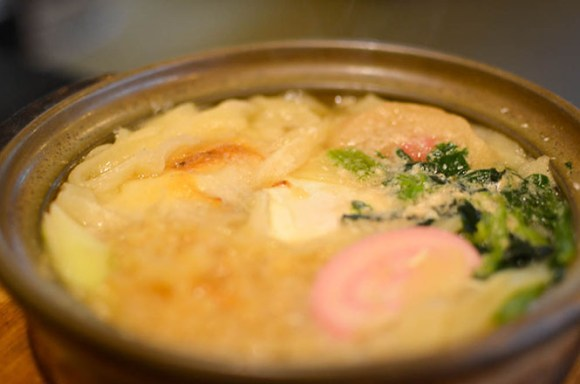 Chitose, Udon Noodles Served Hot in Pan -Umenoya-