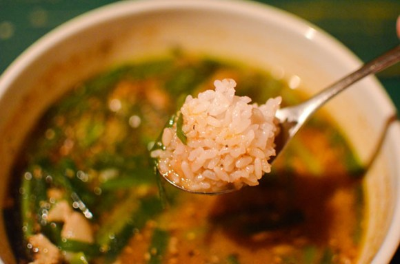 Soup Curry with Fried Chinese Chives and Pork -Curry Zion in Rumoi-
