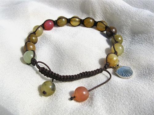 Shamballa camino bracelet jade