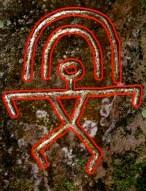 Rainbow Man petroglyph-lucky in Hawaii