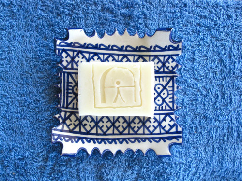 Natural soap in dish