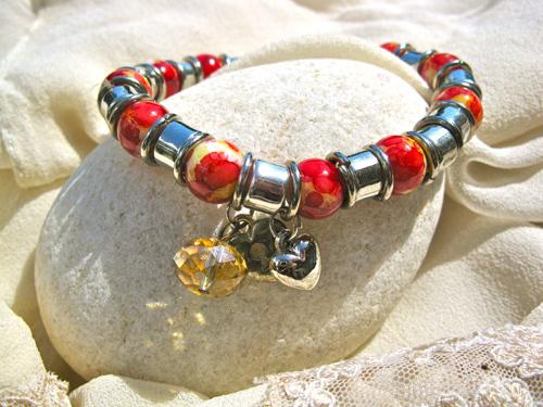 Love bracelet citrine
