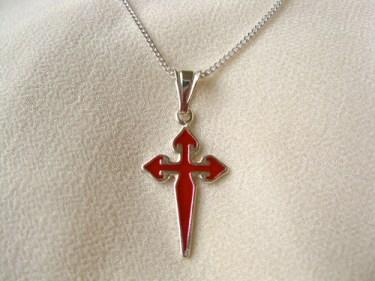 Cross St James necklace