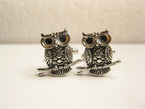Owl cufflinks for protection