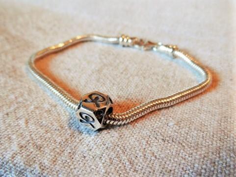 Indalo Man bead bracelet silver