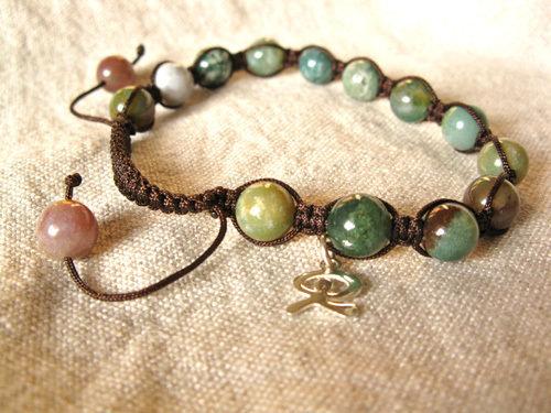 Shamballa bracelet with Indalo charm