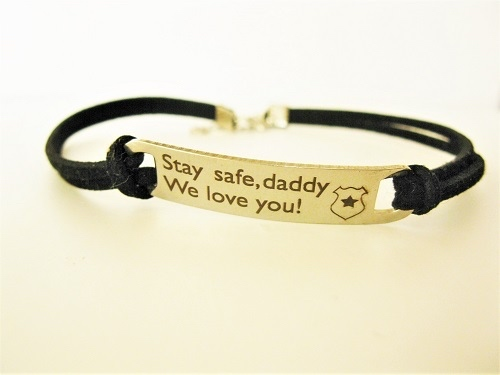 Stay Safe bracelet for Daddy