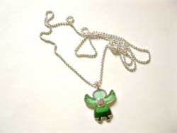 Angel charm necklace for protection on journey