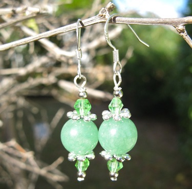 Aventurine earrings for luck