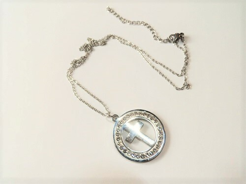 Cross in circle necklace