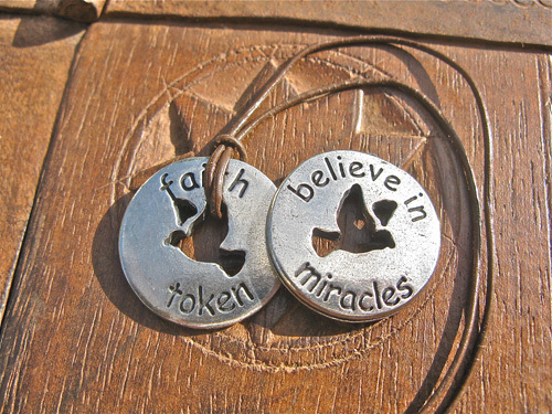 Faith token believe in miracles