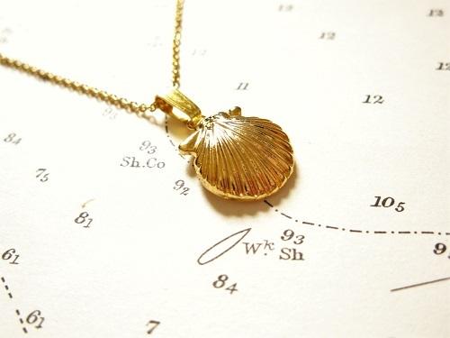 Gold Camino de Santiago necklace