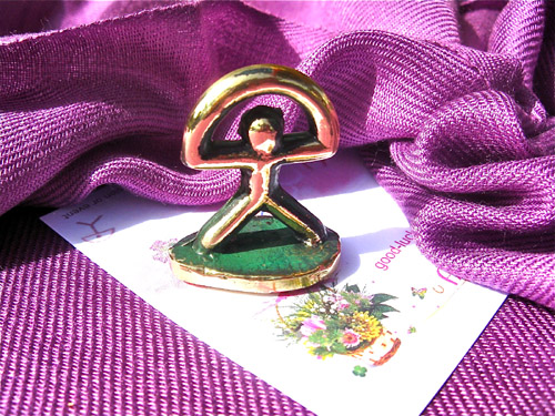 Lucky Indalo statuette - brass