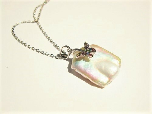 Pearl and Butterfly necklace
