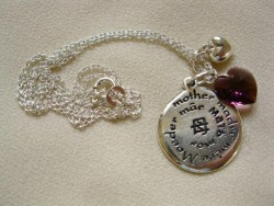 Silver Mothers Day necklace