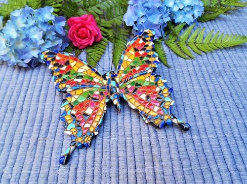 Spanish ceramic butterfly for new start