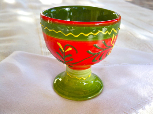Spanish ceramic egg cup