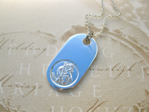 St Christopher dogtag