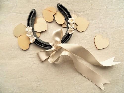 Wedding gift lucky horseshoe