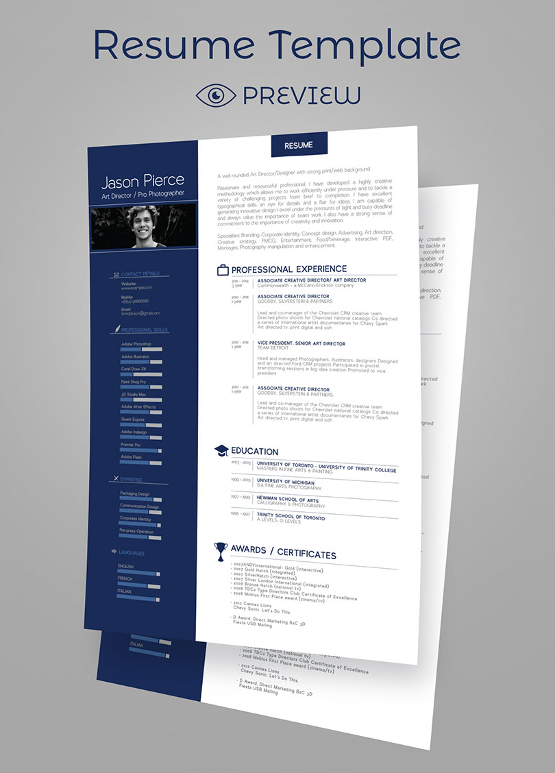 Simple Premium Resume  CV  Design  Cover Letter Template  4 PSD Mock         Resume Design Cover Letter Templates Icons 5 4