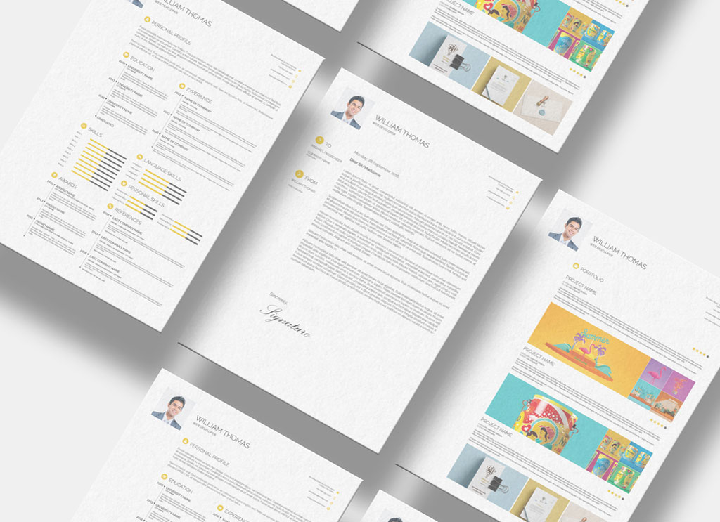 All files and code has been well designed and. Free Cv Resume Cover Letter Portfolio Design Template In Psd Idml Indd Format Good Resume