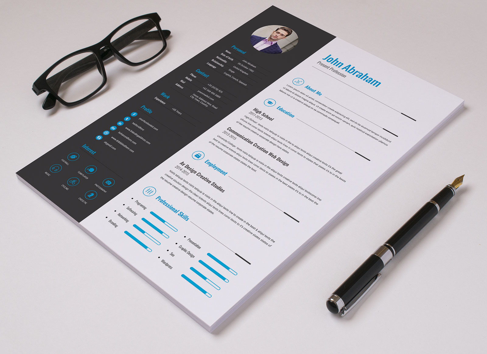 Free Professional Resume Template Amp Cover Design In INDD PSD Ai Amp Word DOCX Good Resume