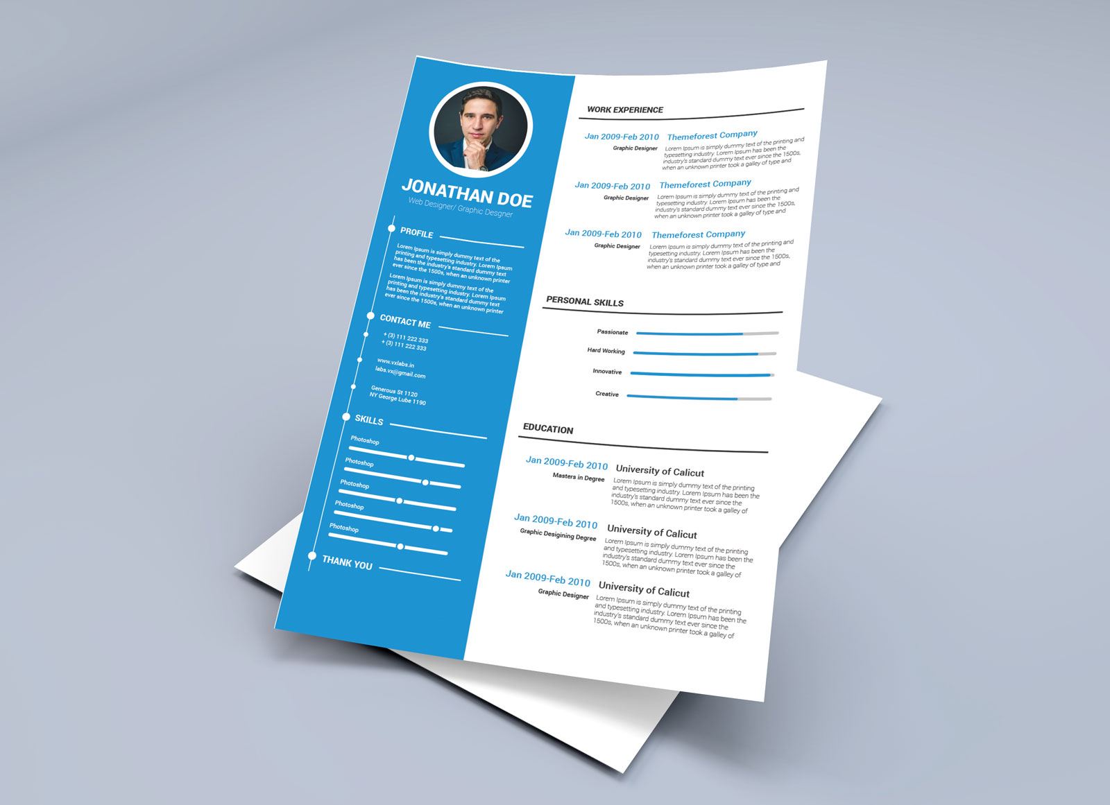Free Resume Template In Illustrator Ai Amp Word DOCX Format Good Resume