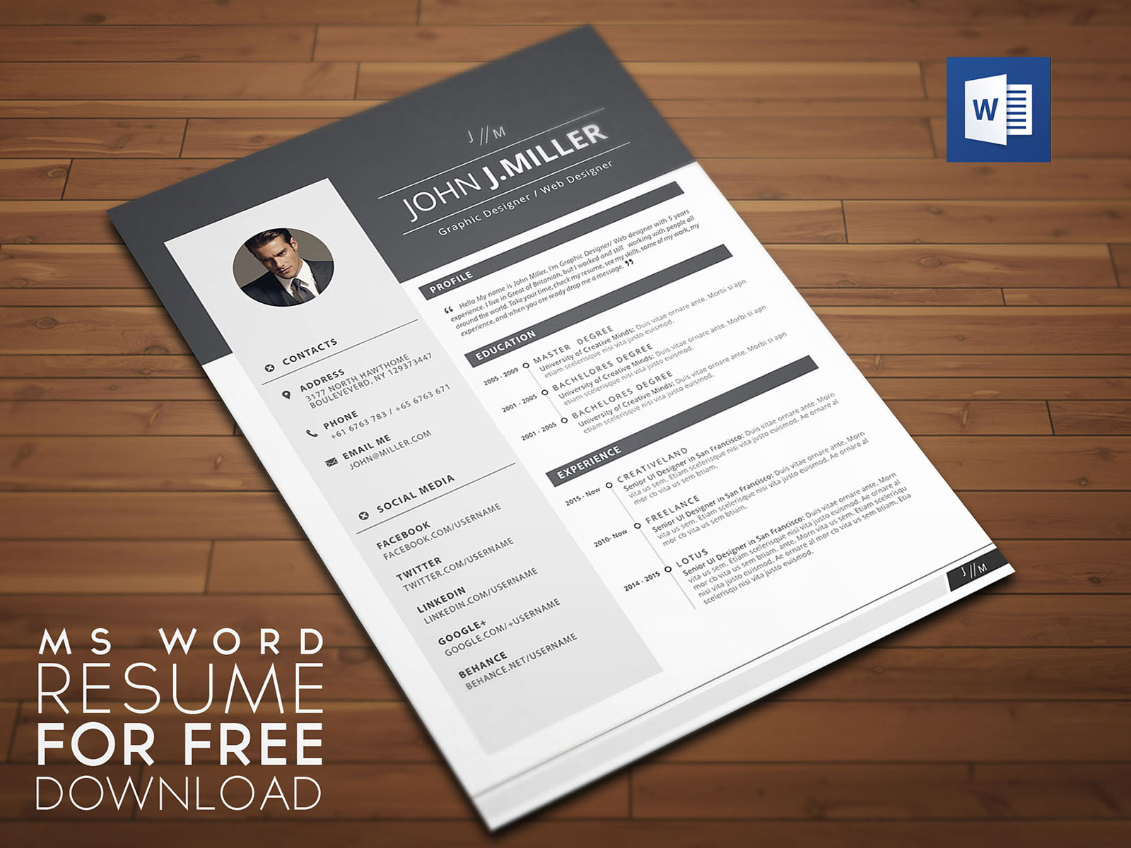 In this post we have gathered 20 free ms word resume templates, professionally designed and easy to modify. Free Download Resume Cv Template For Ms Word Format Good Resume
