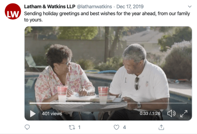 Latham & Watkins Law Firm Twitter