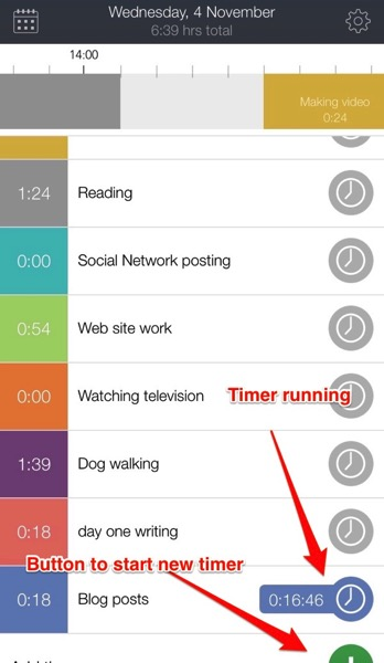 Hours app time tracker