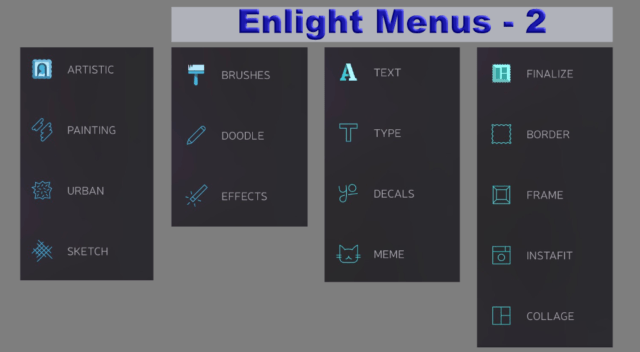 Enlight Menus 2