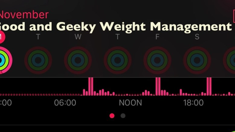 Good and Geeky weight management