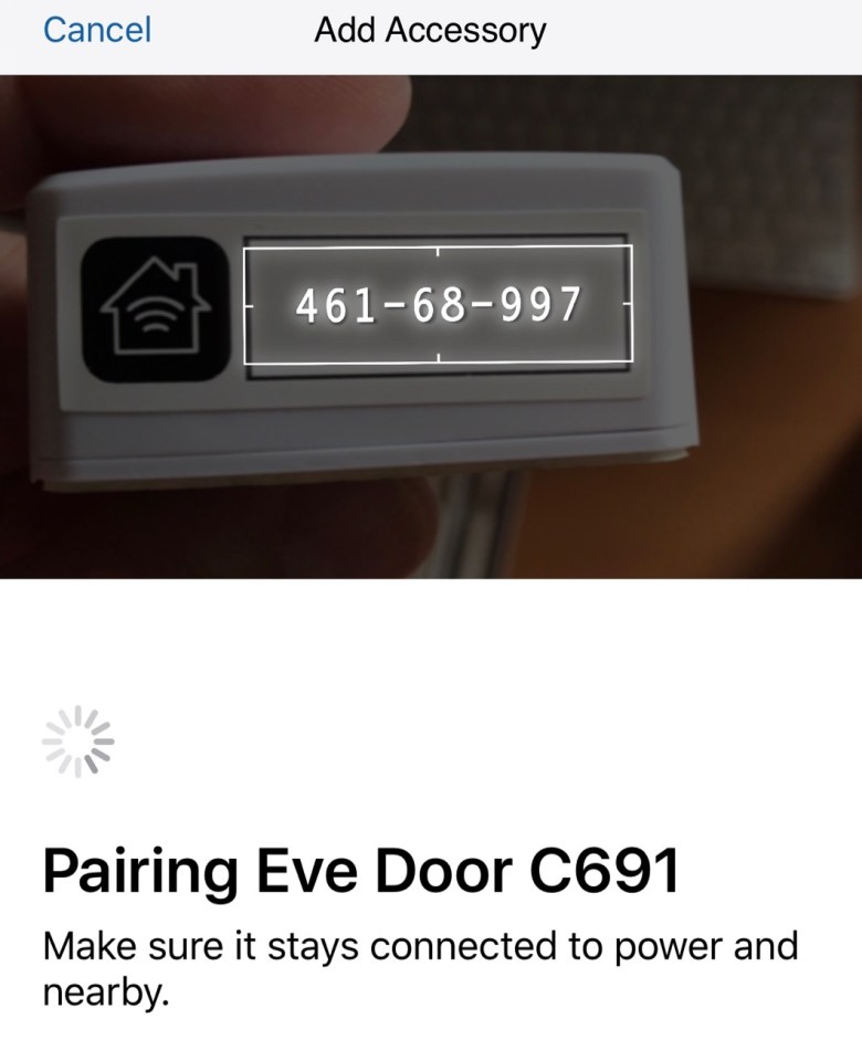 Pairing Elgato Eve Door Accessories
