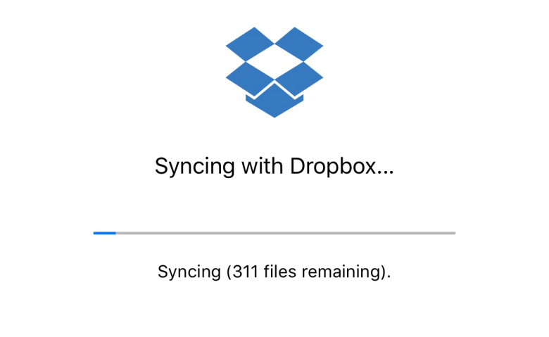 Sync via Dropbox