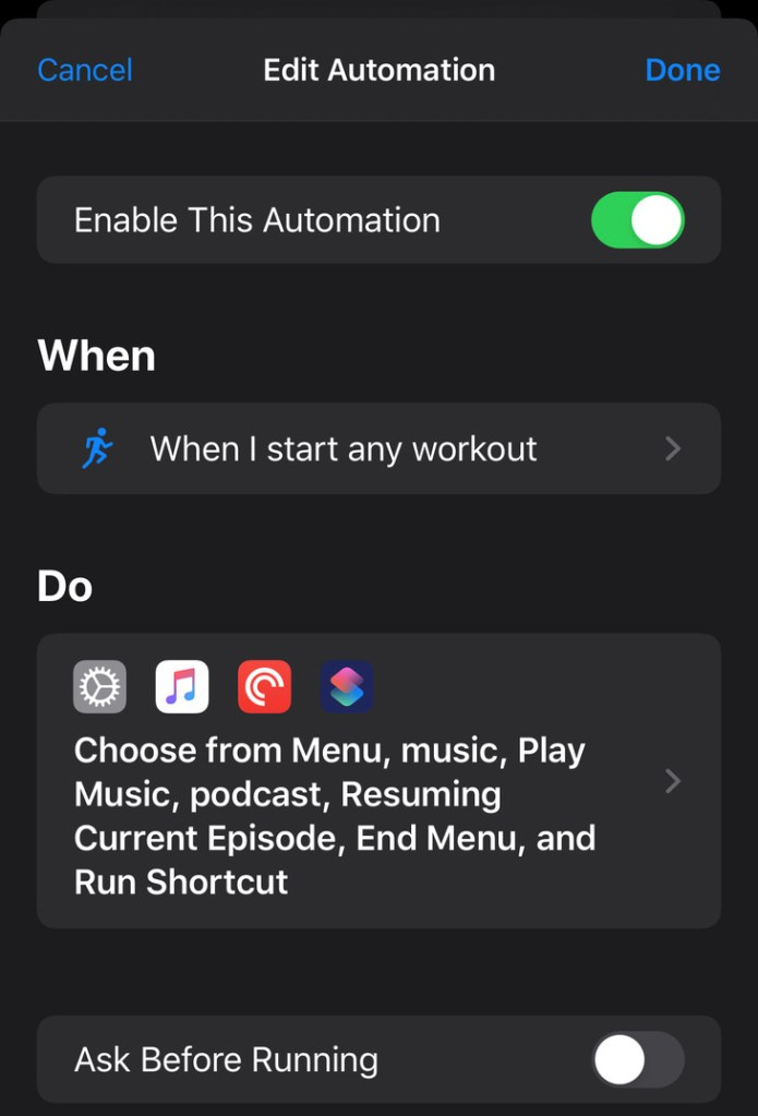 Running iOS Shortcuts