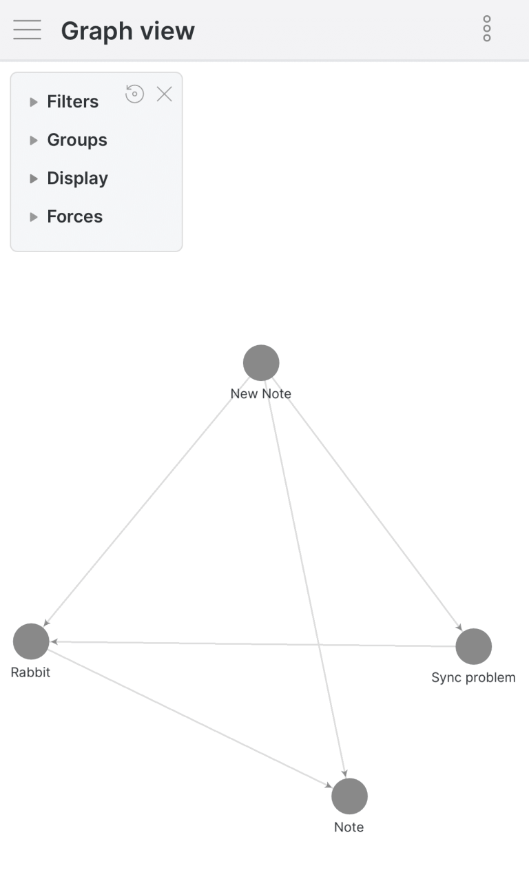 Graph View in Obsidian