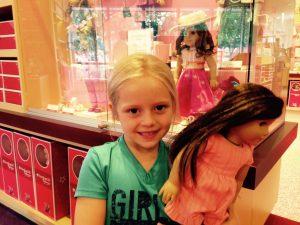 Vivi (age 7) at American Girl Orlando (June 2016).