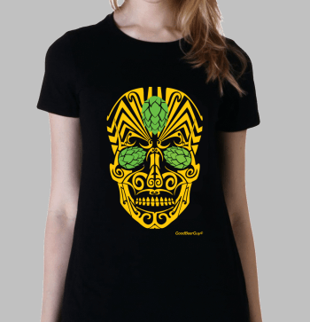 Beer calavera t-shirt tribal mexican