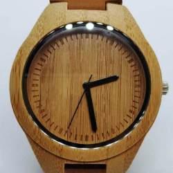 Boomvalk houten horloge