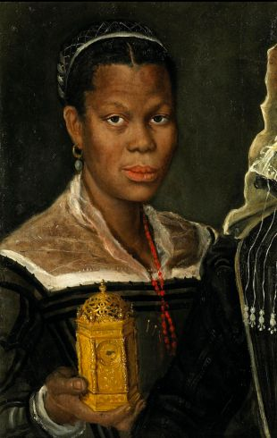 Annibale Carracci, attrib. (Italian, 1560 – 1609), Portrait of an African Slave Woman, ca. 1580s.